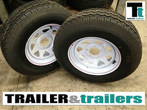 NEW-Sunraysia-Style-Trailer-Wheels-NEW-LIGHT-TRUCK-TYRES-SET-of-2