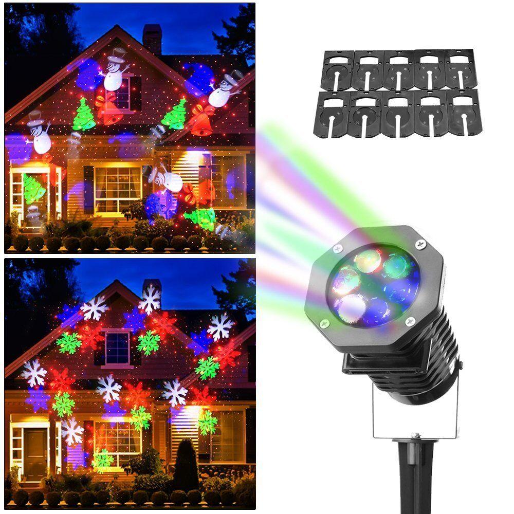 10 led laser landscape projector light lamp holiday xmas party au plug. Black Bedroom Furniture Sets. Home Design Ideas