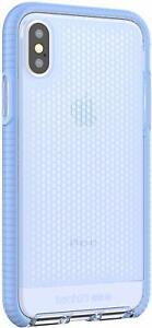 Tech21-IPHONE-X-amp-XS-Evo-Rete-Impact-Protection-Custodia-Lilla-Blu-T21-5936