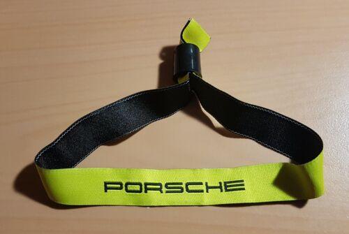Porsche Band Armband Eintrittsband Gelb aus Stoff mit Verschluß