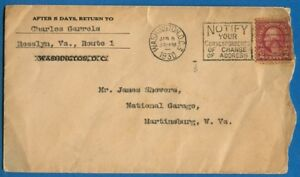 Red Washington 2 Ct Stamp On Cover 1930 Wash Dc Postmark To Martinsburg Wv Ebay