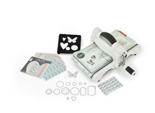 Sizzix® Big Shot Starter Kit White & Grey ft. MLH Stanzmaschine Prägemaschine