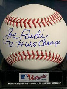 JOE RUDI  OAKLAND A'S  1972-74 WS CHAMPS  SIGNED OML BASEBALL