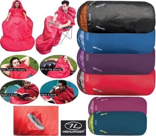 Adulte camping sac de couchage voyage bras trous festival enfants xl large