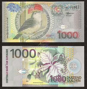 SURINAME 1,000 1000 Gulden 2000 P-151 UNC Uncirculated
