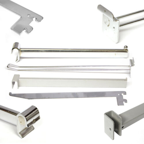 Shop Retail Display Hooks Arms Styles Hangers /& Bars Various Fittings