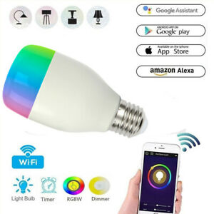 Dimmable-E27-RGB-LED-Wifi-Smart-Bulb-Light-Bulbs-For-Amazon-Alexa-Google-Home