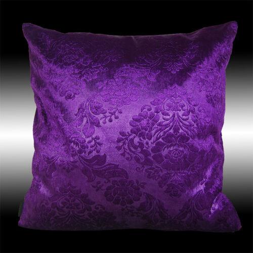 10 Colors Elegant Both Sides Damask Velvet Deco Throw Pillow Case Cushion Cover