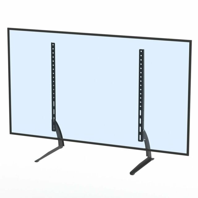 VIVO Universal LCD Flat Screen TV Table Top VESA Mount Stand BlackBase fits