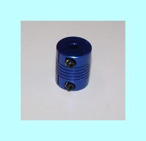 5mm-x-3-8-flex-SHAFT-COUPLING-CNC-25-034-Servo-Stepper-motor-coupler-blue