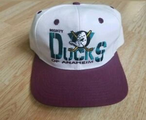 new product 07aa4 1adef Image is loading Vintage-90s-Mighty-Ducks-of-Anaheim-Hockey-NHL-