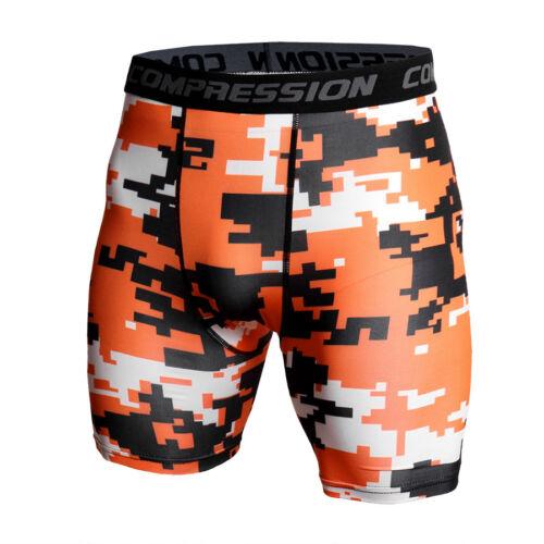 Mens Compression Shorts Soccer Training Gym Exercises Bottoms Camo Print Dri fit