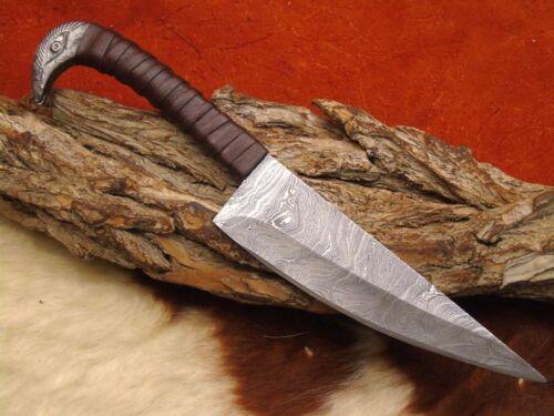 Gürtel Messer Mittelalter Damast Messer handgeschmiedet CR14D