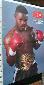 TERRY NORRIS  SIGNED POSTER & KO MAGAZINE COVER 1993 & COA - OFFERS ACCEPTED .