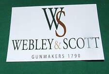 Webley & Scott Gun & Rifle Maker Repo Gunmakers Case Label Accessory Artifact