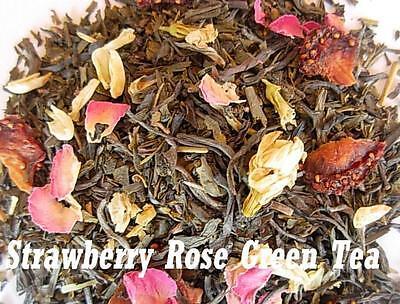 Organic Strawberry Rose Green Tea 8oz (1/2 lb) loose leaf   Aromatic, delicious