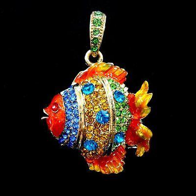 Luminosa Chiavetta Usb 4 Gb Pesce Pesci Ornamentali Multikolor Gioielli Strass Cristallo Fish Vis- Abbiamo Vinto L'Elogio Dai Clienti