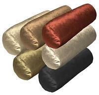 mo+6 Colors Shimmer Velvet Style Fabric Bolster Yoga Case Neck Roll Custom Size