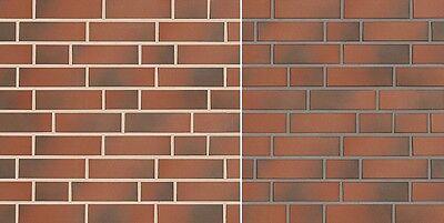 Klinker Fassade GemäßIgt Klinker-riemchen Nf Naturbrand Rot-bunt Glatt Fassadenkleberiemchen Spaltklinker Ohne RüCkgabe