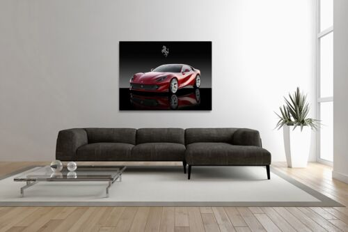 Ferrari 812 Superfast Automotive Car Wall Art Giclee Canvas Print Photo