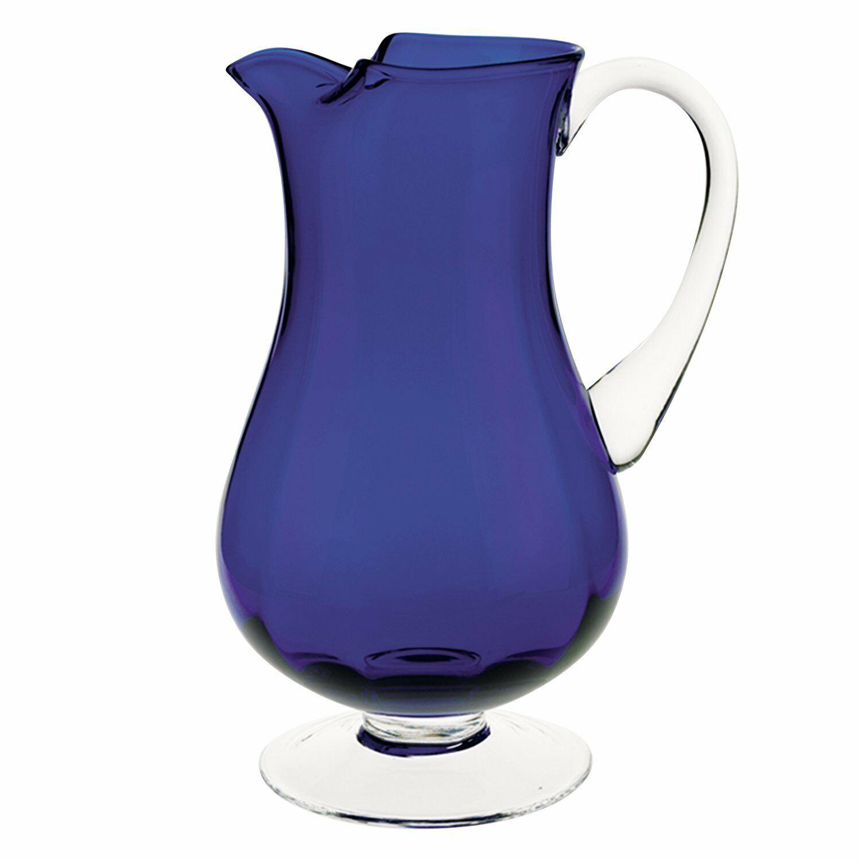 (D) 'Impressions bleu de couleur Decanter 54 Oz (environ 1530.85 g), Qualité Premium sans plomb cristal