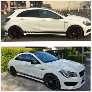 Car-Sides-Stickers-Decal-Top-Quality-Vinyl-Stripes-Gloss-Black-For-Mercedes-Benz