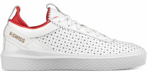 K-Swiss Dani Femmes Sneaker Chaussures De Sport 95630-124-m Blanc Rouge Nouveau