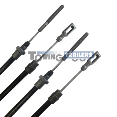 2x Knott Fixed Eye Bowden Trailer Brake Cable 900mm