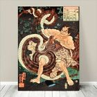 "Vintage Japanese SAMURAI Warrior Art CANVAS PRINT 36x24""~ Kuniyoshi #257"