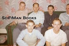 35mm Vintage Slide Handsome Men Smoking Sitting On Sofa Fashion Wallpaper 1950s?