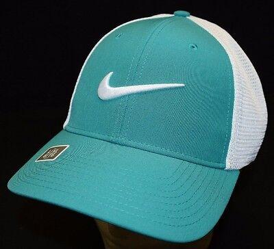 e9abcc99c Nike Golf Legacy 91 Tour Mesh Fitted Golf Hat Cap 727031 Green Sz S/M L/XL  NEW | eBay