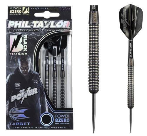 TARGET Phil Taylor 8Zero Black Titanium Steeldarts in 21 23 od 25 gramm