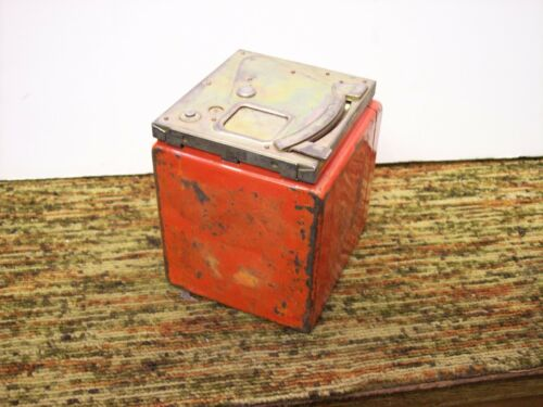Two Authentic Western Electric Bell System Orange Coin Cash Box Payphone Phone