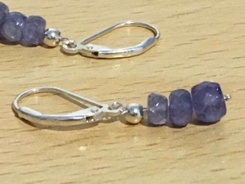 Earrings on 925 Silver or 925 R.G Details about  /Tanzanite Plated Wires December Birthstone