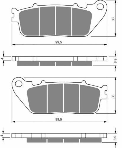Goldfren S33 fritté arrière Plaquettes de frein FA488 HONDA VFR 800 F ABS 2014-2018