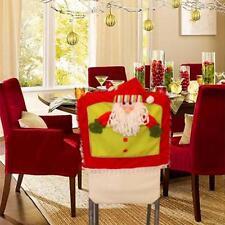 Yoyorule 1pc Santa Hat Chair Covers Christmas Decor Dinner Chair Xmas Cap Sets