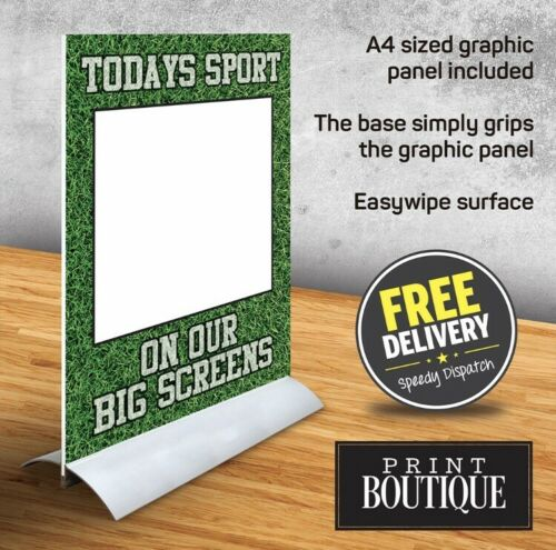 Pub Counter Sign Table talkers A4 wipeable premiership Euro 2020 Football Bar