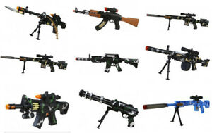 Kids-Boys-Army-Play-Soldier-Gatling-Toy-M16-AK47-Sniper-Machine-Gun-Sound-Light