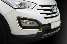 For Hyundai Santa Fe 2013+ Chrome Front Fog Light Surround Trim Set