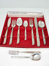 BOXED SET OF ONEIDA COMMUNITY PLATE SOUTH SEAS CUTLERY