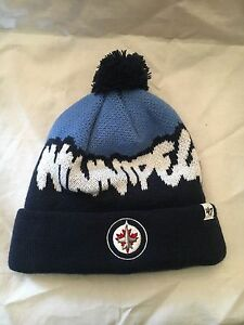 Winnipeg Jets NEW Youth Underdog Pom Knit Winter Hat . NHL Cap ... 33eb66f834d