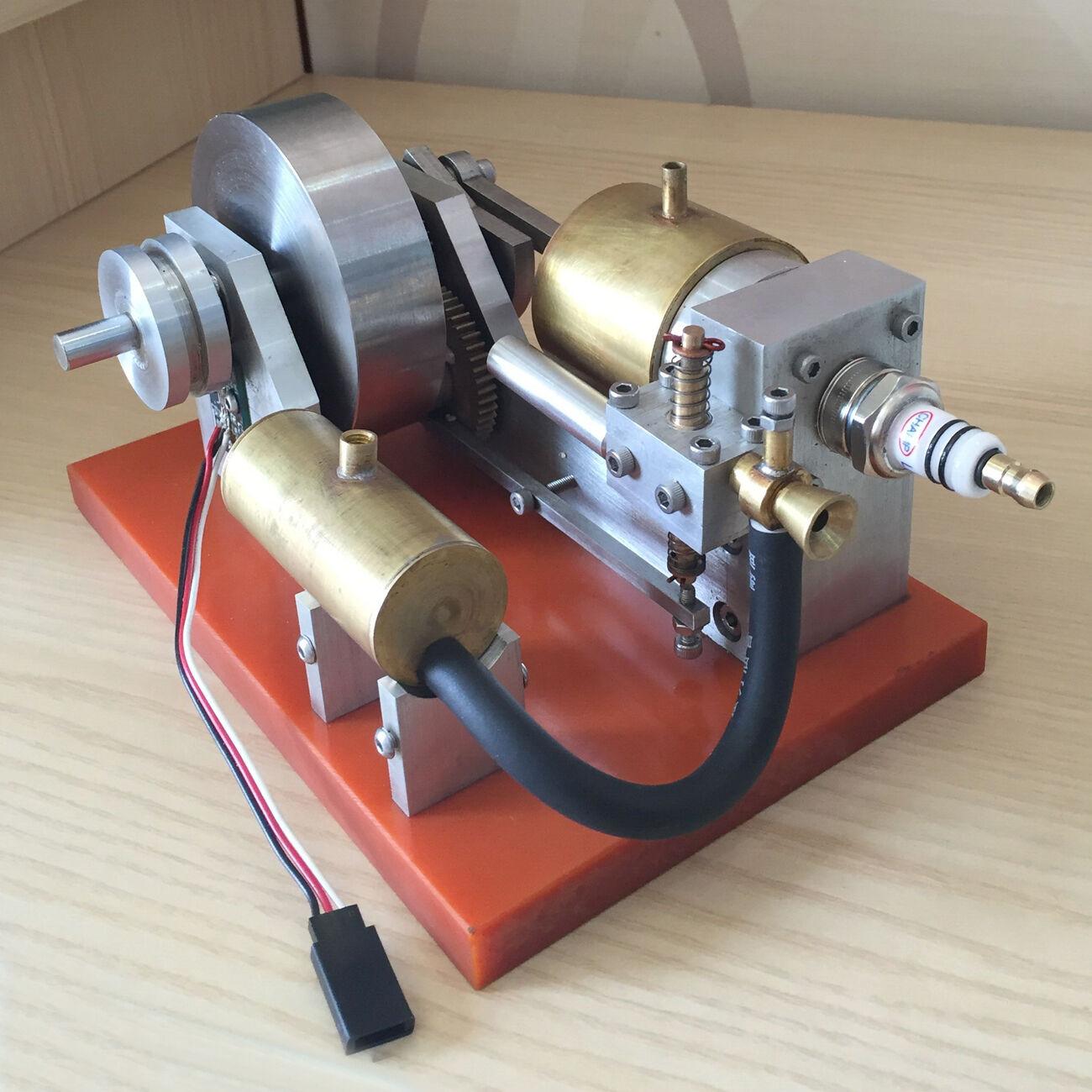 Horizontal Gasoline Engine Model Toy Petrol Fuel Micro Generator Motor Engine