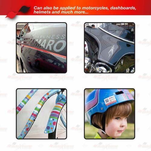 25mm Zierstreifen Autoaufkleber Motorrad Zierlinie Dekorstreifen NEON ROT-ORANGE