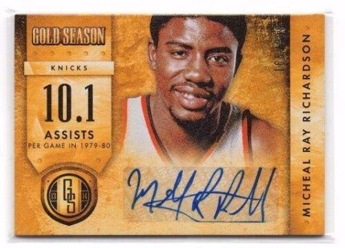 Micheal Ray Richardson 2013-14 Gold Standard //299 !! Gold Season Autographs