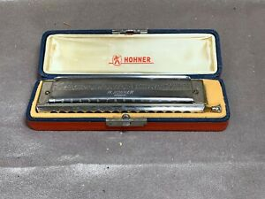 Vintage Hohner The 64 Chromonica 280C Harmonica with Case