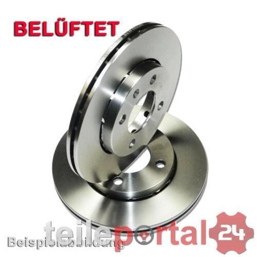 2x disque de frein 5 trous DISQUES plein frein convient pour FORD ø 280mm