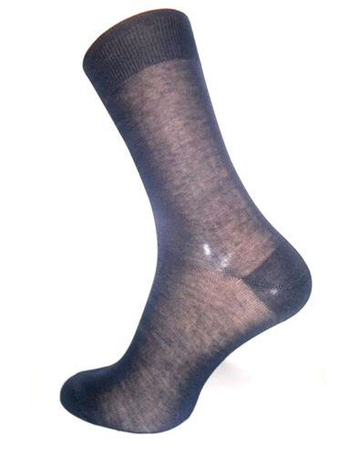 Pack of 6 Pair Men's Black Mid-Calf Socks 100/%Cotton in Gift Box Made in Italy