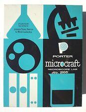 VINTAGE 1960's PORTER Chemical MICROSCOPE Microcraft lab kit No. 2105