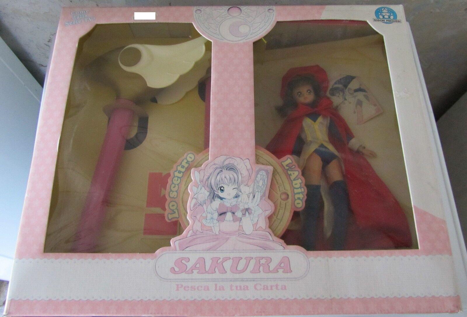 Sakura pesca la tua carta bambola e scettro bellissima confezione bundle vintage