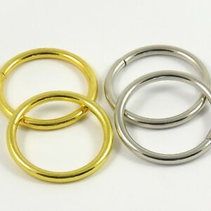 Nouvelle Mode 35 Mm 1 3/8 Pouces Or/chrome:: Lourdes:: O-ring Pour Sac Making Leathercraft-afficher Le Titre D'origine